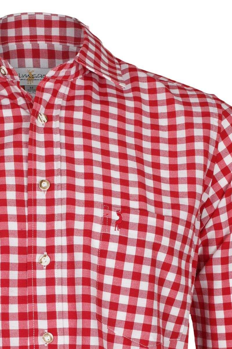 hemd slim fit rot wei kariert 39 patrick 39 slim fit hemden. Black Bedroom Furniture Sets. Home Design Ideas