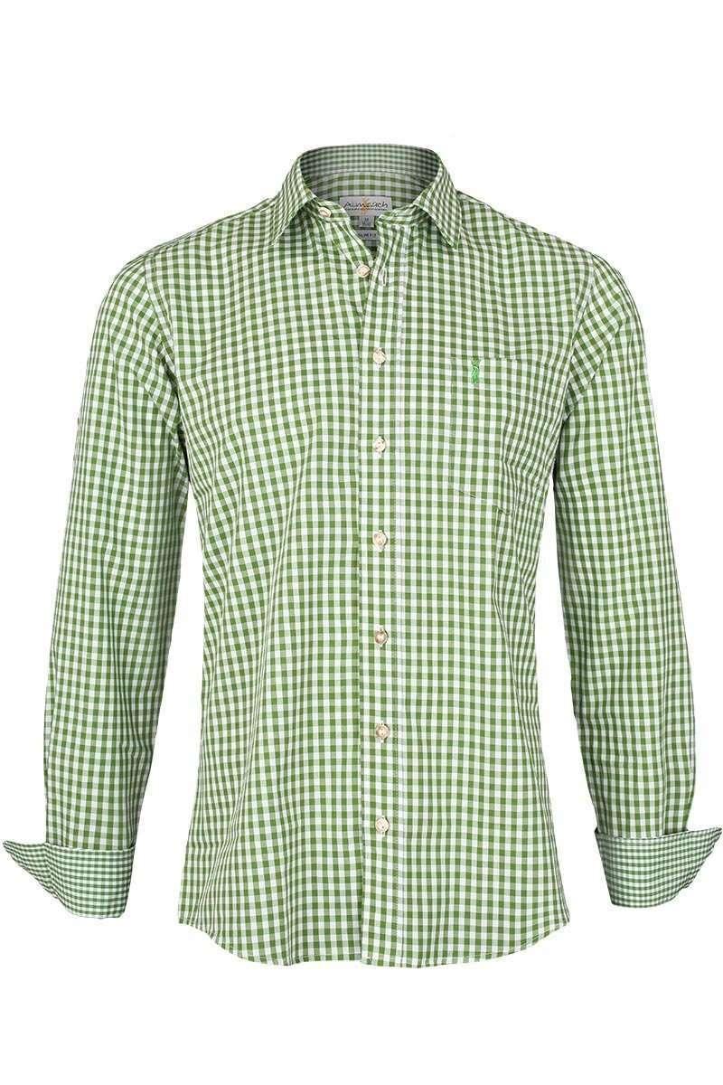 8acf71665bc2 Trachtenhemd Slim Fit kariert grasgrün - Trachtenhemden ...