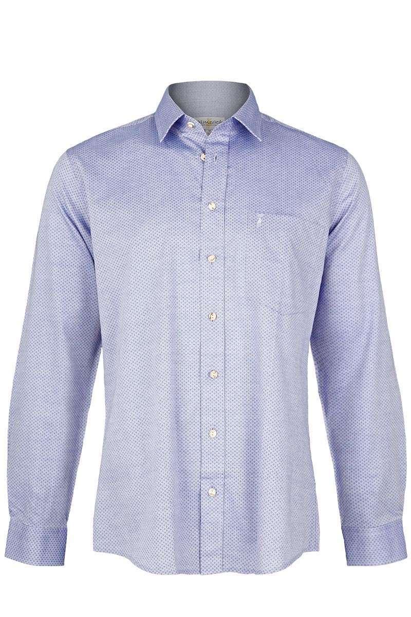 herren trachtenhemd slim fit blau trachtenhemden slim fit trachtenhemden trachtenshirts. Black Bedroom Furniture Sets. Home Design Ideas