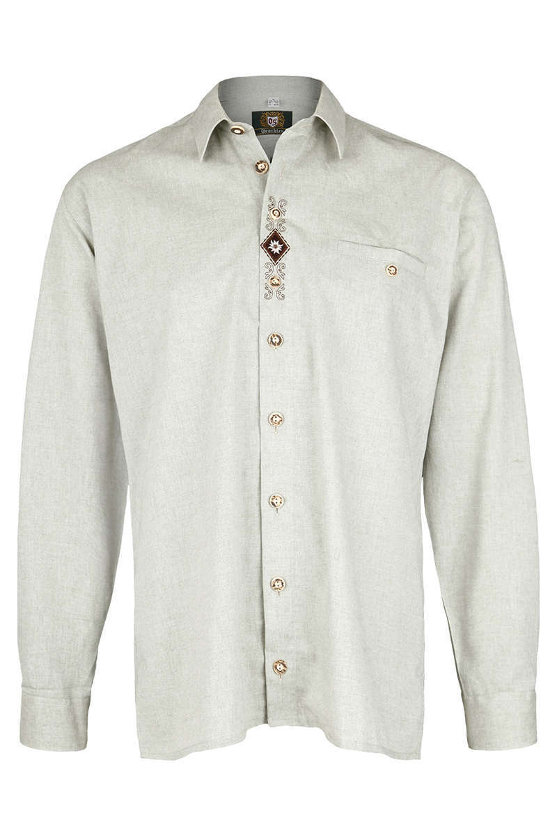 herren trachten krempelarm hemd comfort schnitt gr n grau krempelarm hemden trachtenhemden. Black Bedroom Furniture Sets. Home Design Ideas