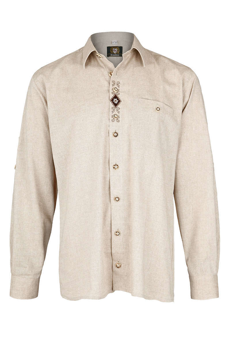 herren trachten krempelarm hemd comfort schnitt natur trachten herren neu neu trachten. Black Bedroom Furniture Sets. Home Design Ideas