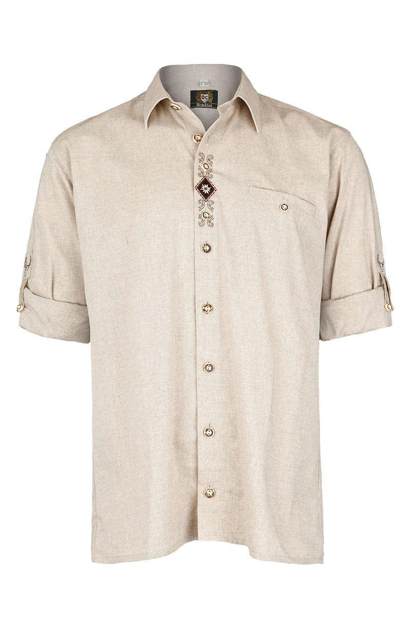 herren trachten krempelarm hemd comfort schnitt natur krempelarm hemden trachtenhemden. Black Bedroom Furniture Sets. Home Design Ideas