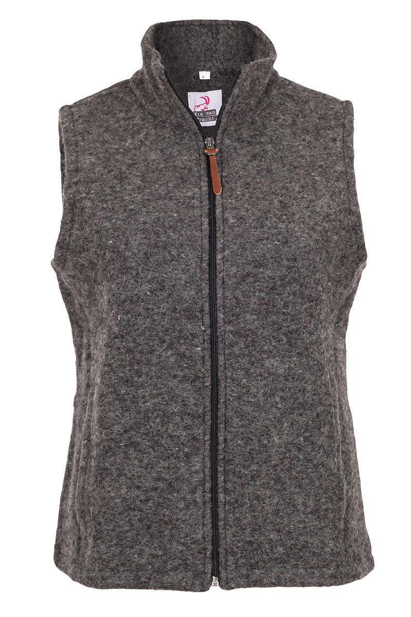 premium selection 03860 ff3bb Damen Wollweste mit Stehkragen grau