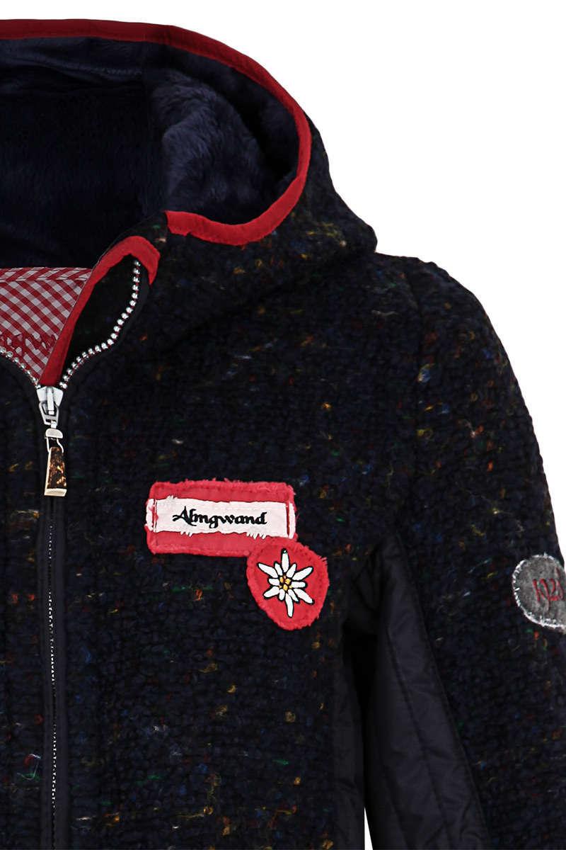 timeless design 1e38a 19ccf Damen Trachten-Jacke kurz mit Kapuze marine rot