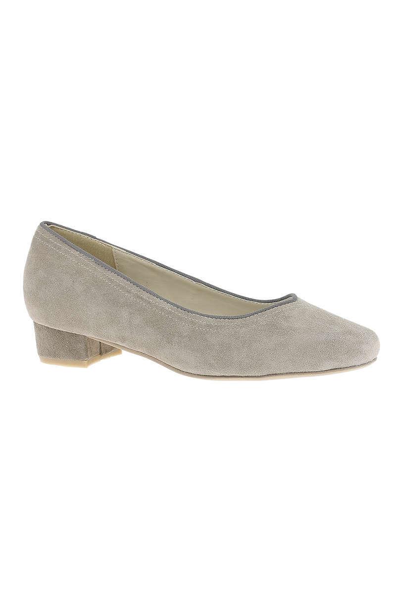 e22ea99c55f83 Trachten-Ballerina mit kleinem Absatz grau