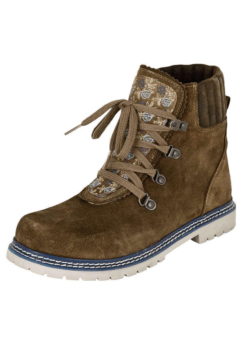 new styles cc1d5 222be Damen Trachten Boots khaki blau