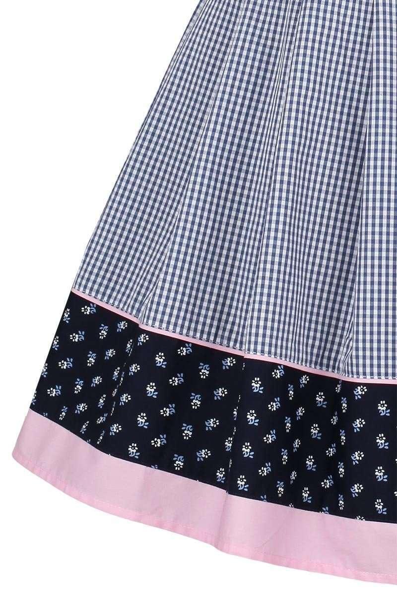 trachtenrock kariert blau rosa trachtenr cke r cke mieder kleider damen trachten werner. Black Bedroom Furniture Sets. Home Design Ideas