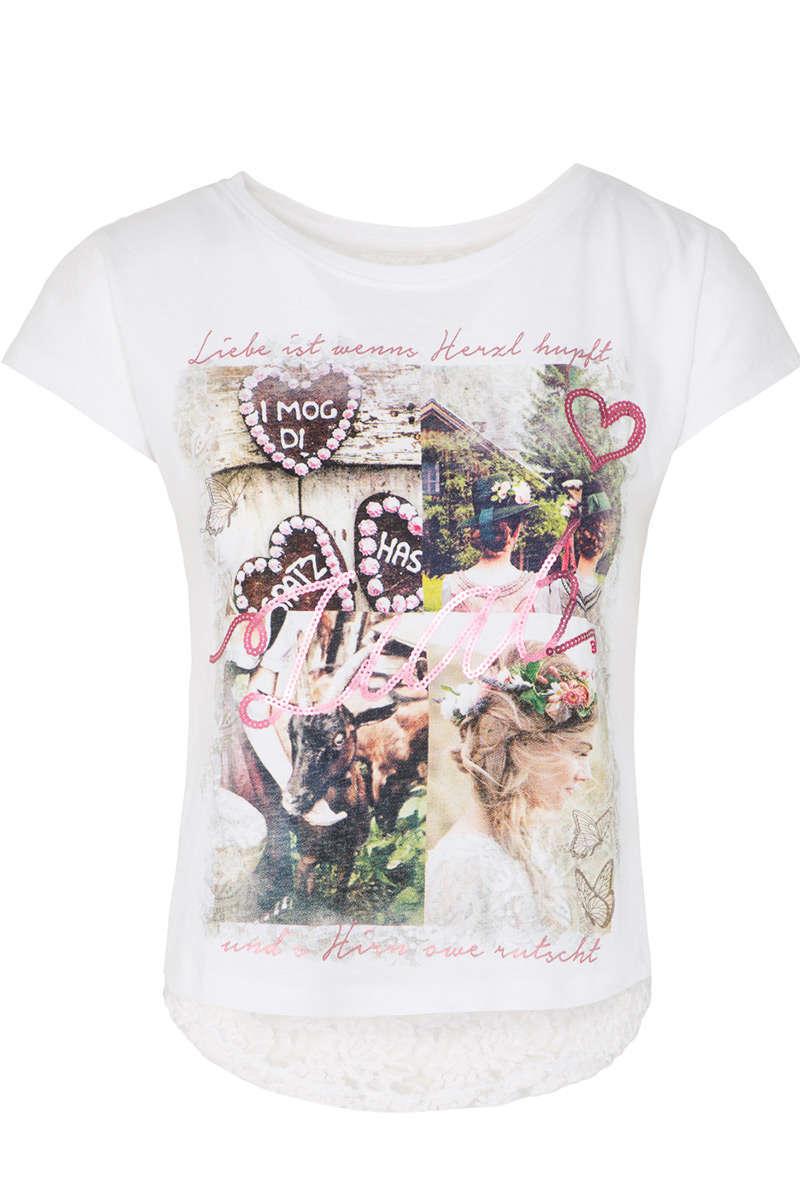 09b685453b358b Damen Trachten T-Shirt Liab weiß - Damen - Trachten Werner