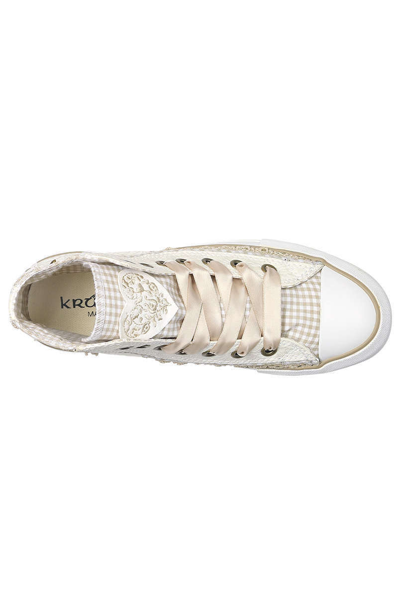 e6122ab0742b Am Besten Damen Sneaker im Chucks-Look natur Spitze - Damen - Trachten JR21