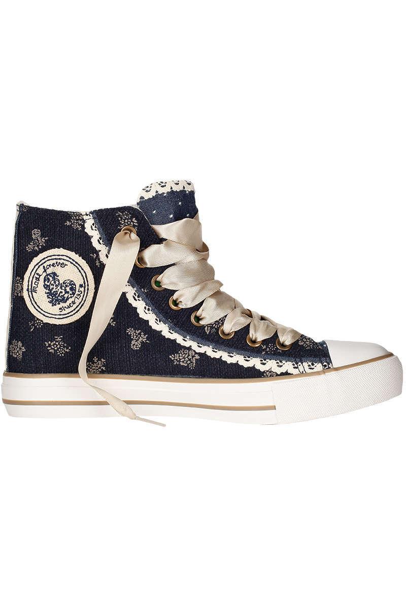 217121834bef Ausgezeichnet Damen Sneaker im Chucks-Look blau kupfer - Damen - Trachten  Werner HP33
