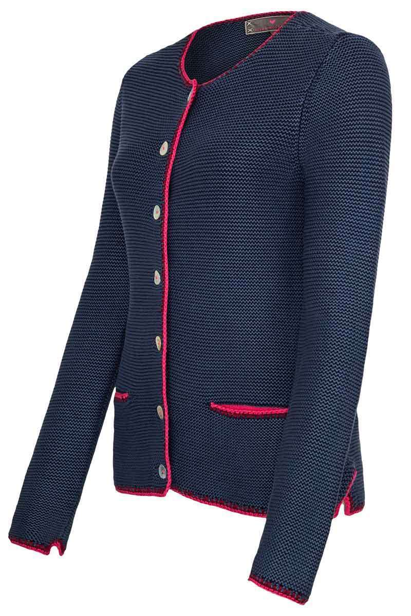Damen Trachten Strickjacke denim Bild 2