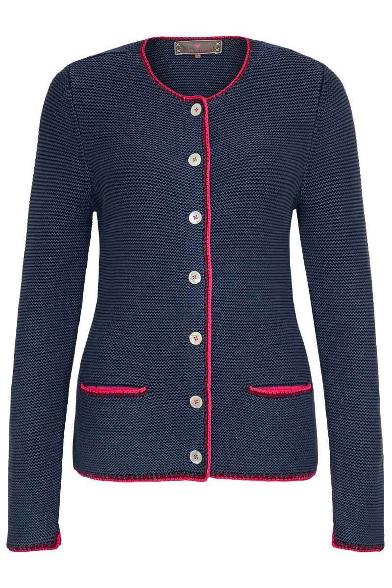 Damen Trachten Strickjacke denim