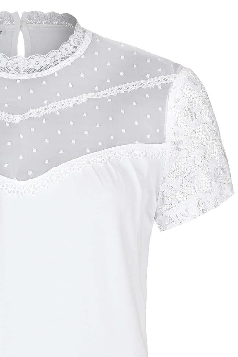 6f74691daef84a T-Shirt mit Spitze weiß - Damen - Trachten Werner