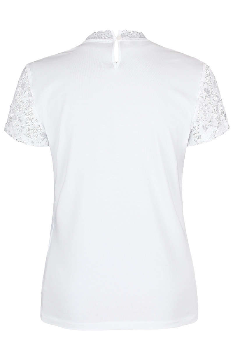 a03b31ec180627 T-Shirt mit Spitze weiß - Damen - Trachten Werner