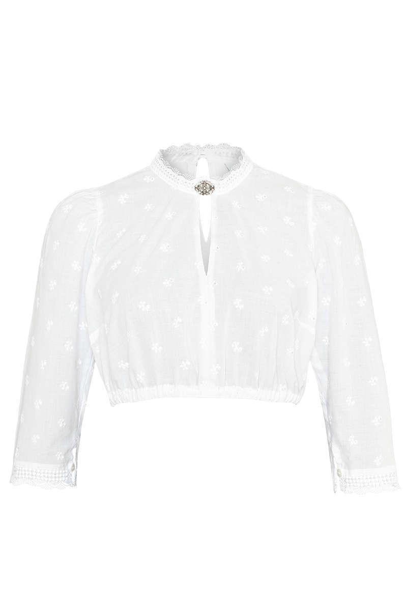 40 Damen Trachten Dirndl Bluse weiß  Gr
