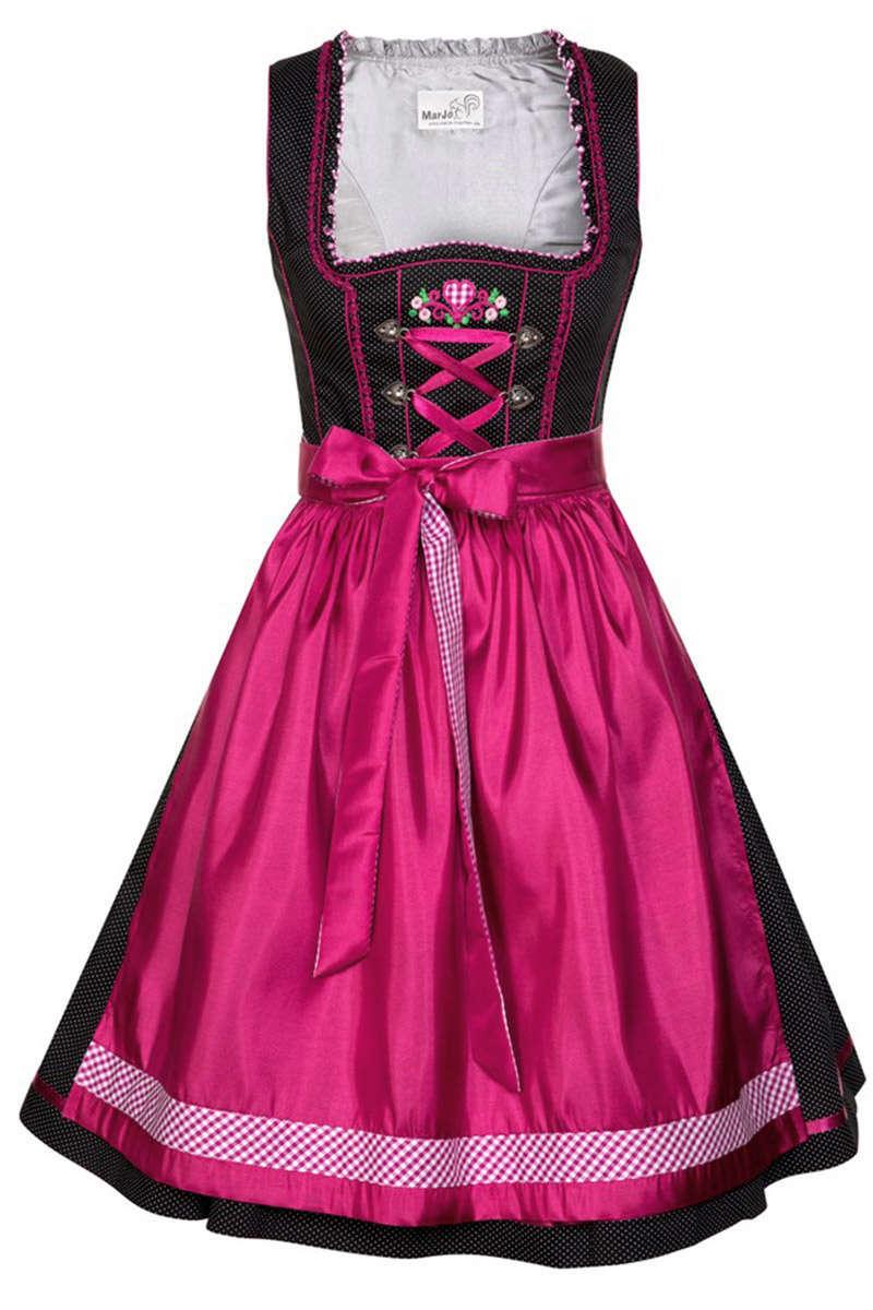 Mini dirndl schwarz rosa