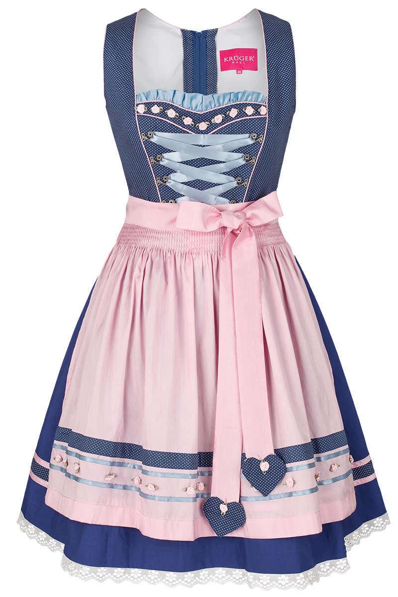 9882fca8e189d Mini-Dirndl blau rosa