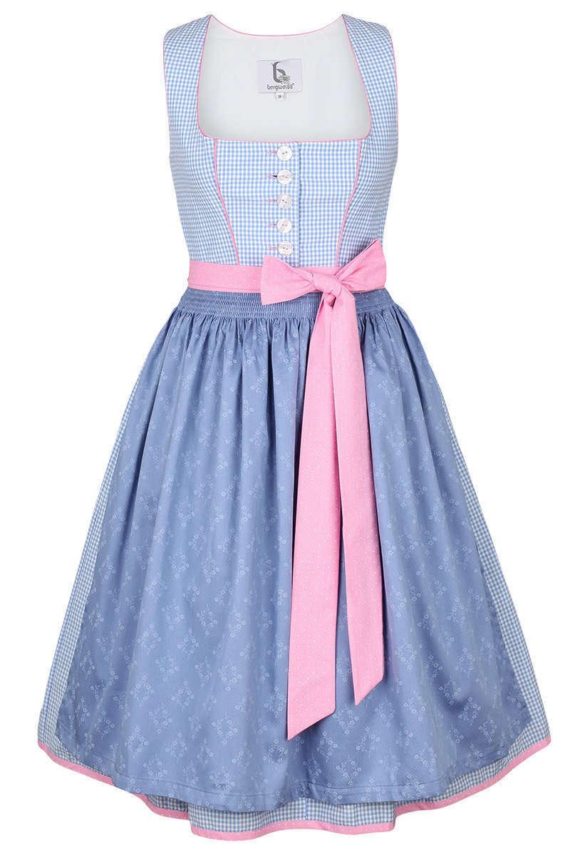 dirndl kurz pastellfarben blau rosa damen trachten. Black Bedroom Furniture Sets. Home Design Ideas