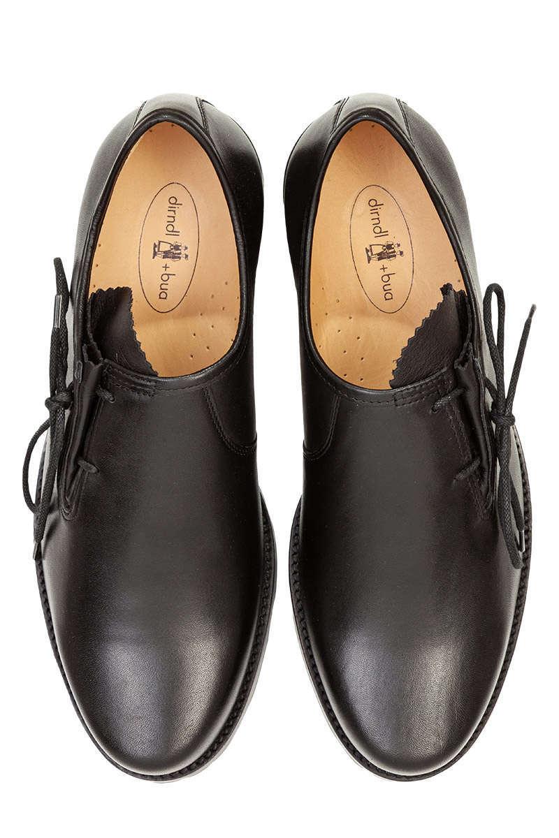 Geschnürter Trachten Haferl Schuh schwarz