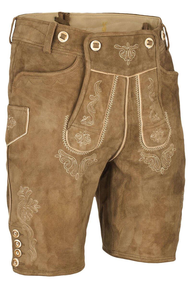 1ca4b73c40b842 Lederhose kurz mit Stegträger rehbraun - Kurze Lederhosen Trachten ...