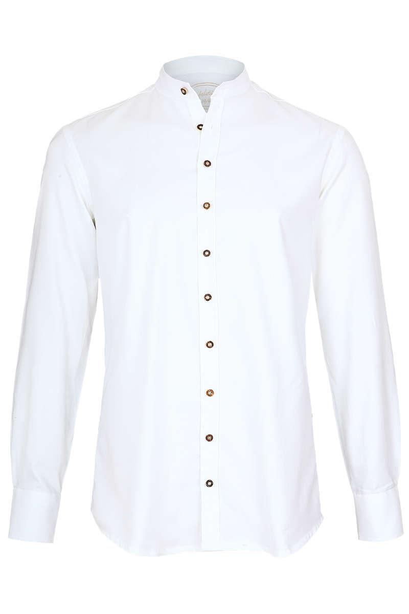 best service f3c38 1e7f5 Trachten Hemd Slim Gipfelstürmer mit Stehkragen weiß