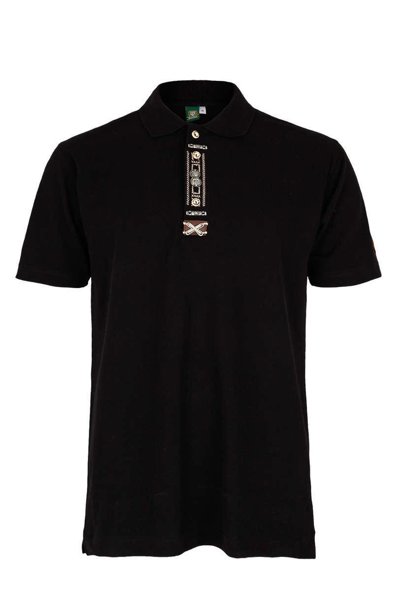 brand new aa1b2 42fb6 Herren-Trachten-Poloshirt schwarz