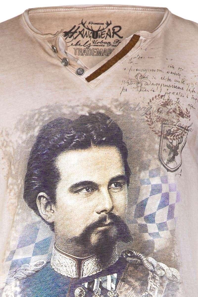 "Trachten T-Shirt mit Druck /""König Ludwig II./"" Bayern Oktoberfest  S-7XL"