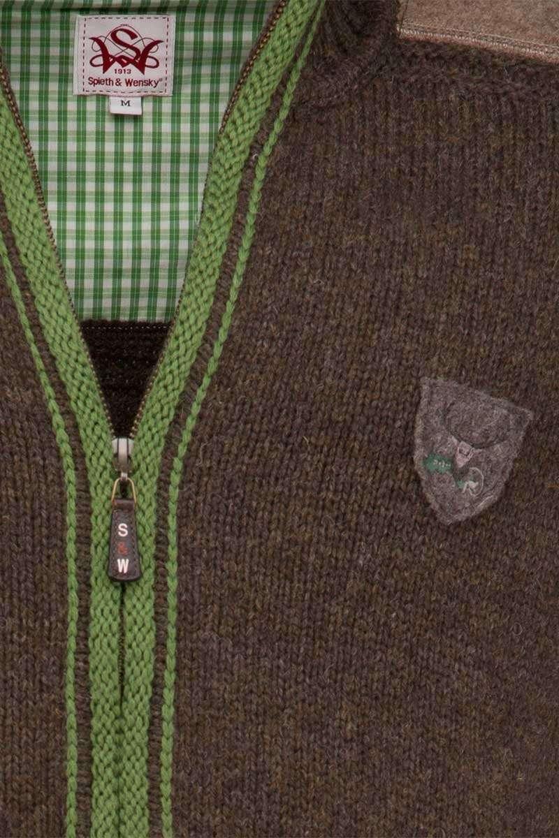 große Auswahl an Designs am modischsten neueste Trachten Strickjacke braun/grün 'Hannes'
