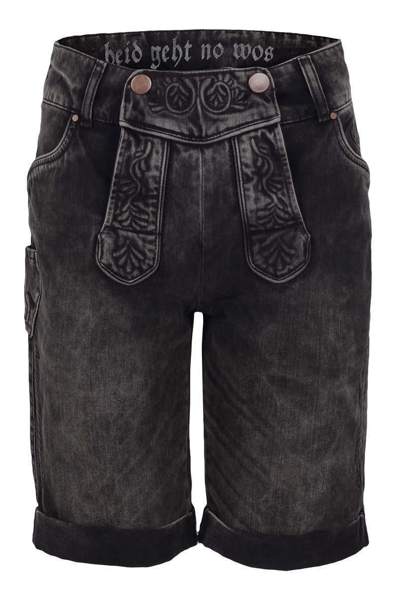 jeans 39 lederhose 39 braun grau kurze lederhosen herren. Black Bedroom Furniture Sets. Home Design Ideas