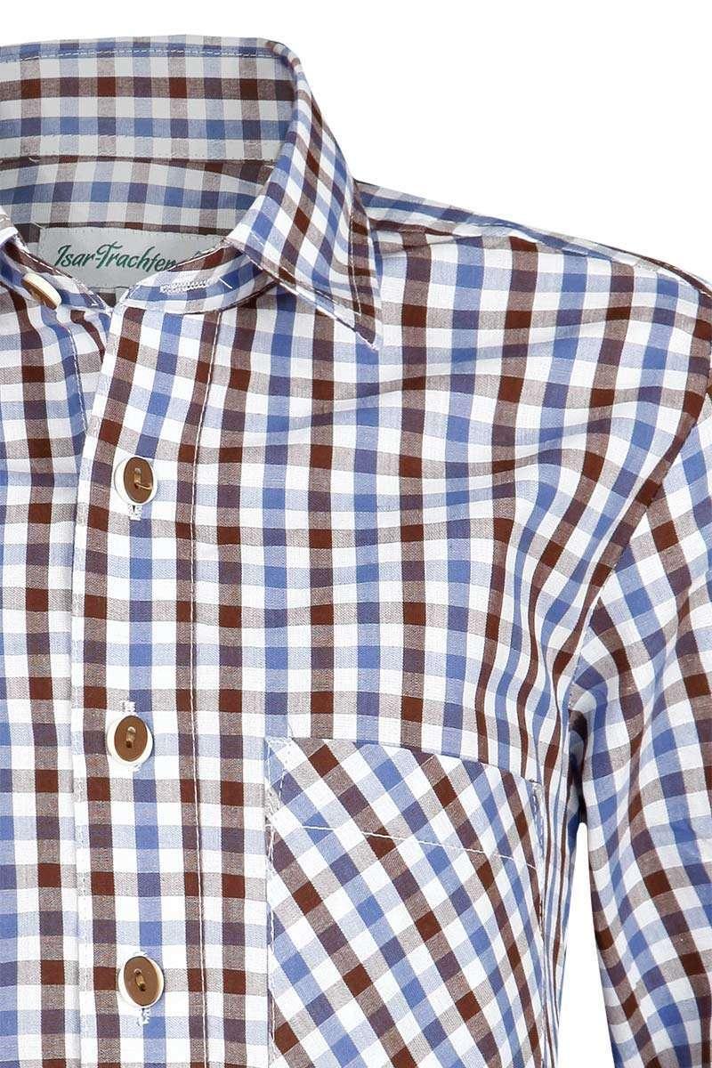Karohemd Männerhemd Baumwollhemd kariert braun blau