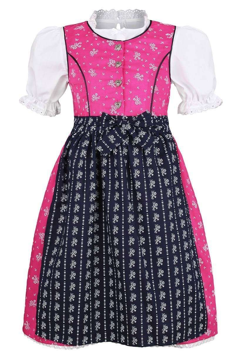 m dchen dirndl gebl mt pink blau mit bluse kinderdirndl m dchen madln kinder trachten. Black Bedroom Furniture Sets. Home Design Ideas