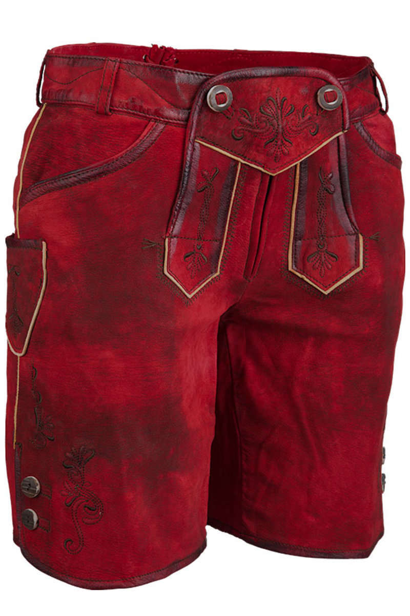 lederhose rot 39 lina 39 lederhosen damen trachten werner leichtl ohg. Black Bedroom Furniture Sets. Home Design Ideas