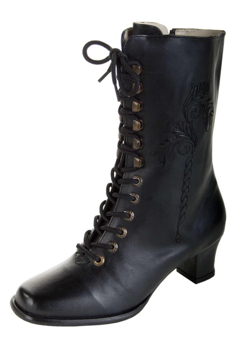 Stiefel schwarz Leder  Bettina  - Damen - Trachten Werner-Leichtl OHG d33f4f04dd