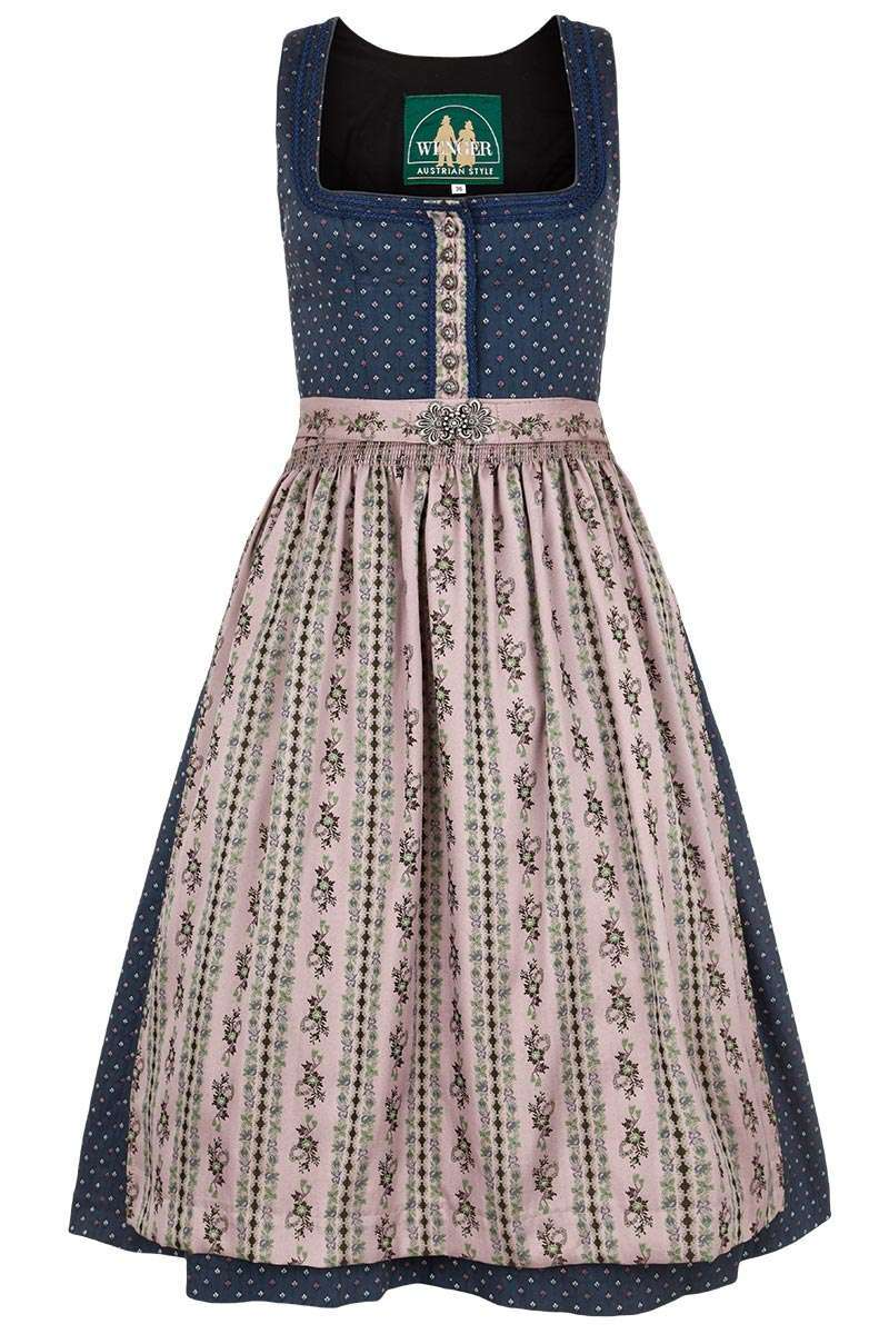 Stretch-Dirndl blau
