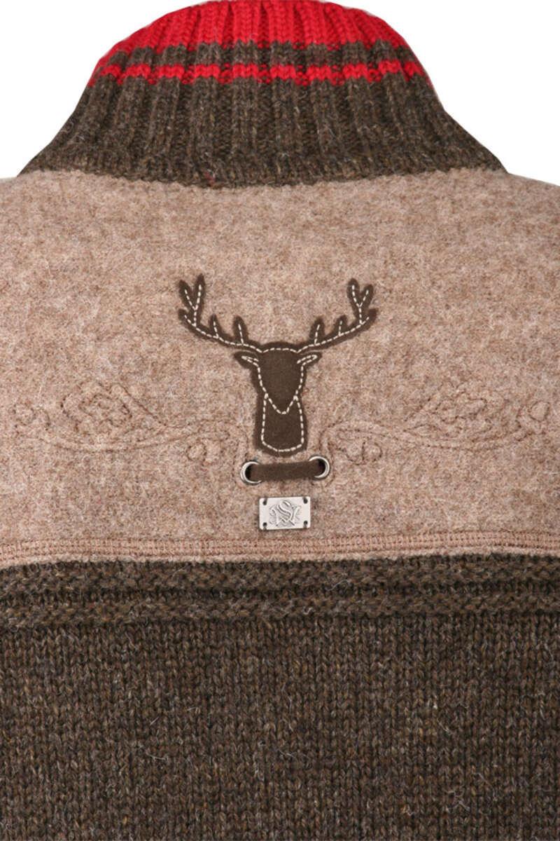 trachten strickjacke mit kapuze damen anleitung long sweater jacket. Black Bedroom Furniture Sets. Home Design Ideas