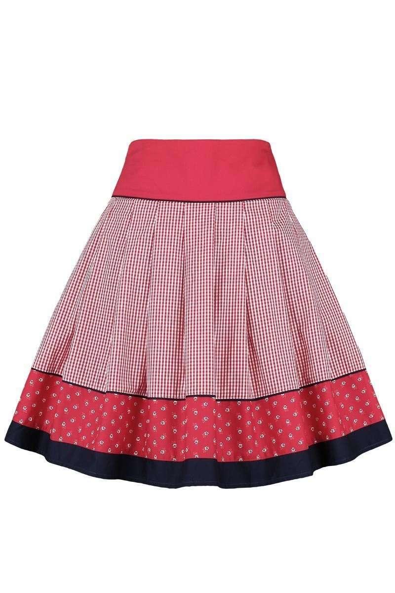 trachtenrock kariert rot blau trachtenr cke damen trachten werner leichtl ohg. Black Bedroom Furniture Sets. Home Design Ideas