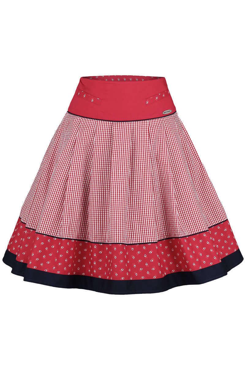 trachtenrock kariert rot blau trachtenr cke r cke mieder kleider damen trachten werner. Black Bedroom Furniture Sets. Home Design Ideas