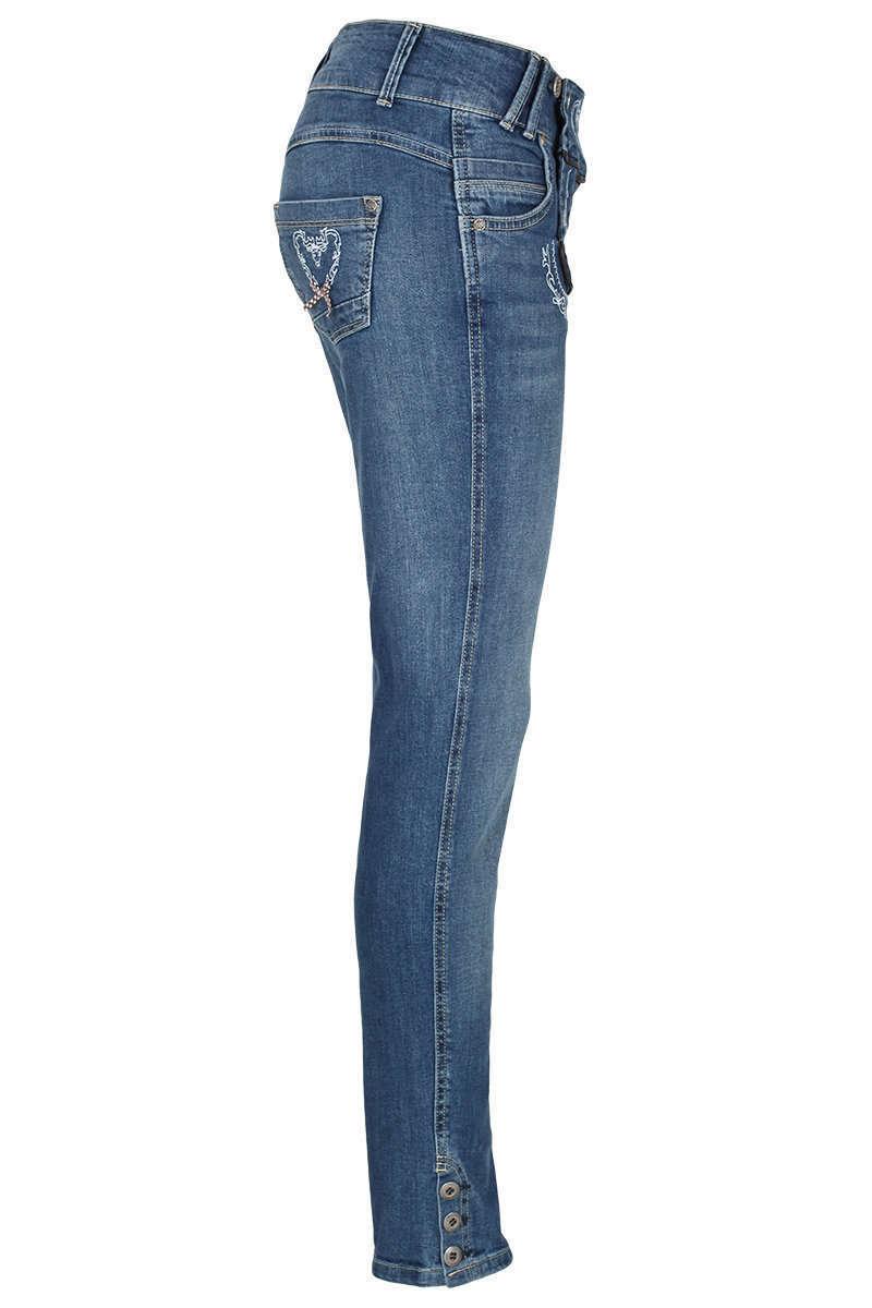 Damen Jeans lang Lederhosenlook Bild 3. Damen Jeans lang Lederhosenlook  Bild 4. Country-Line 3ccbb2c372