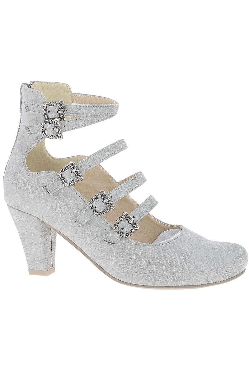 designer fashion 39879 e5727 Damen Trachten Dirndl Pumps grau
