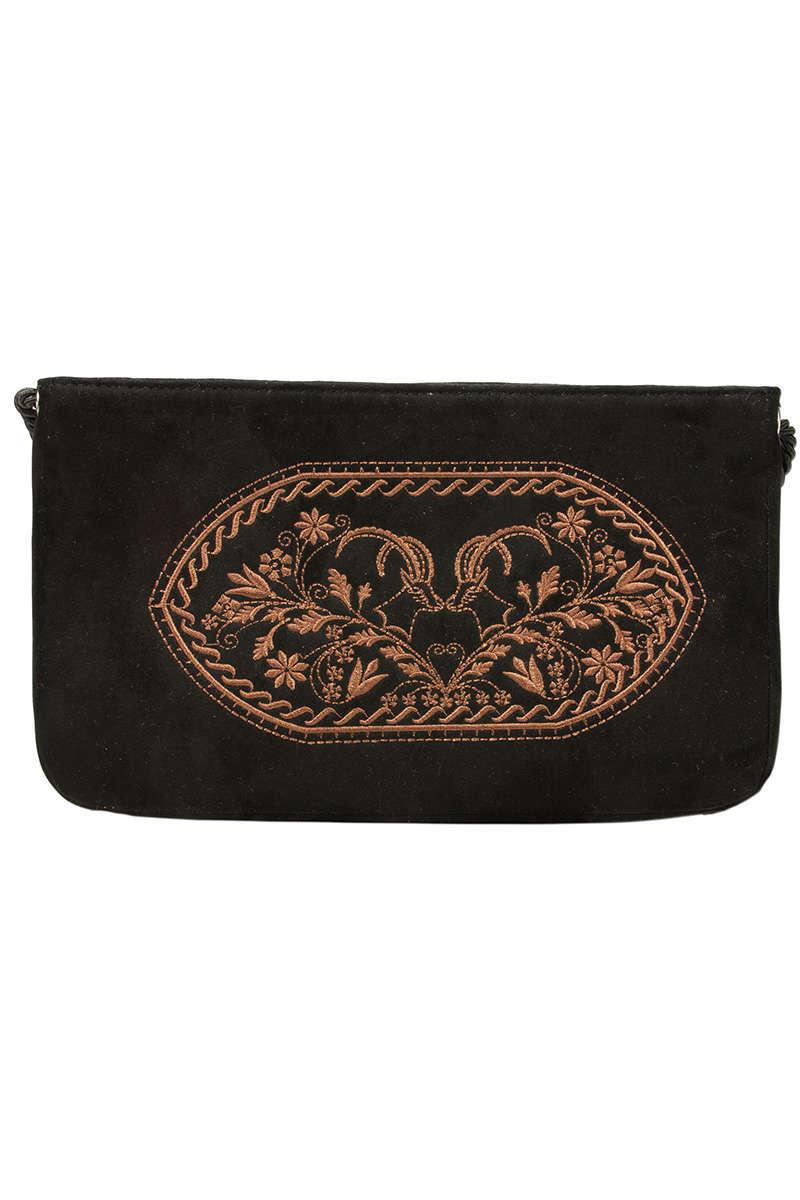 Damen Handtasche Clutch in Schwarz