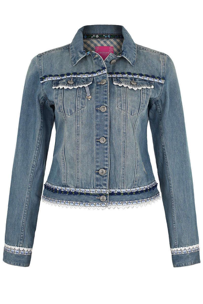 damen trachten jeansjacke jacken und janker damen trachten werner leichtl ohg. Black Bedroom Furniture Sets. Home Design Ideas