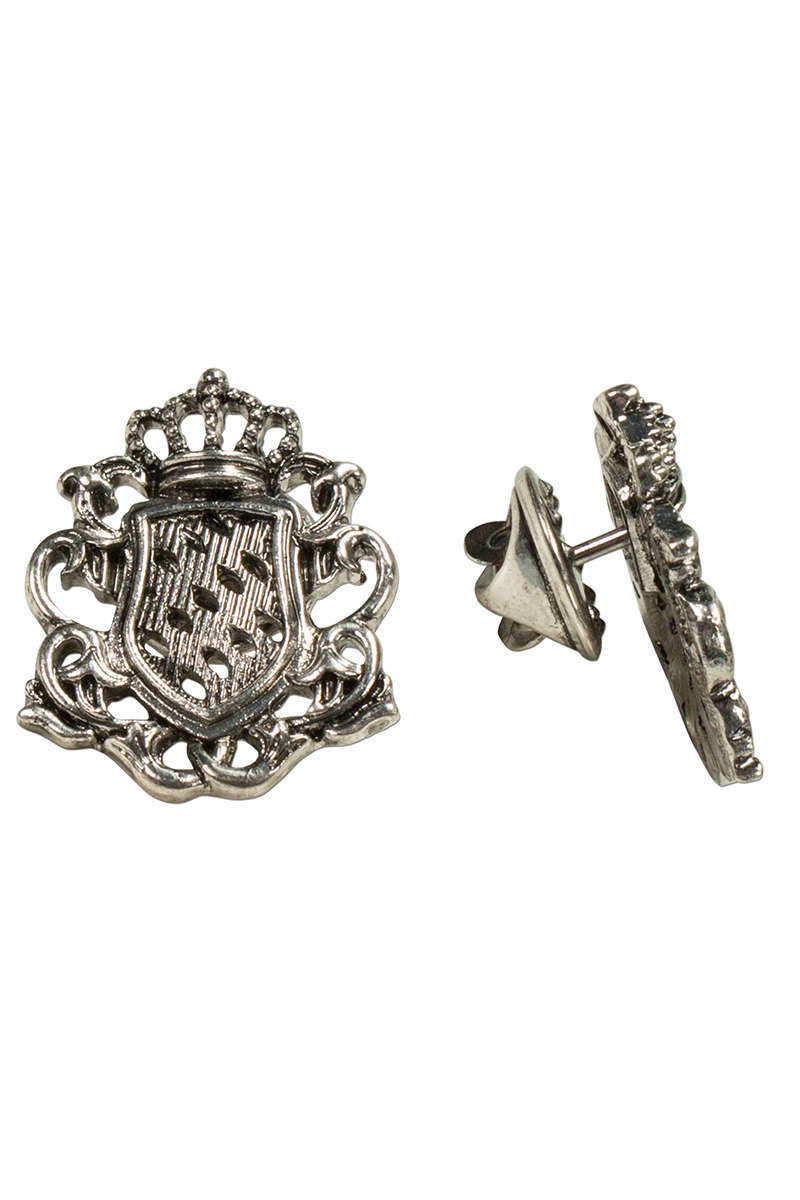 Trachten Ansteck Pin Wappen altsilber zweier Set