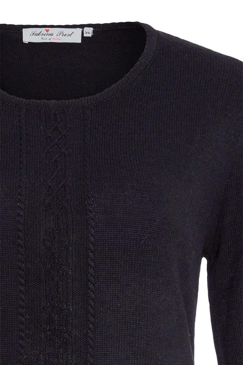 sale retailer 1890b 33714 Damen Pullover mit Zopf dunkelblau