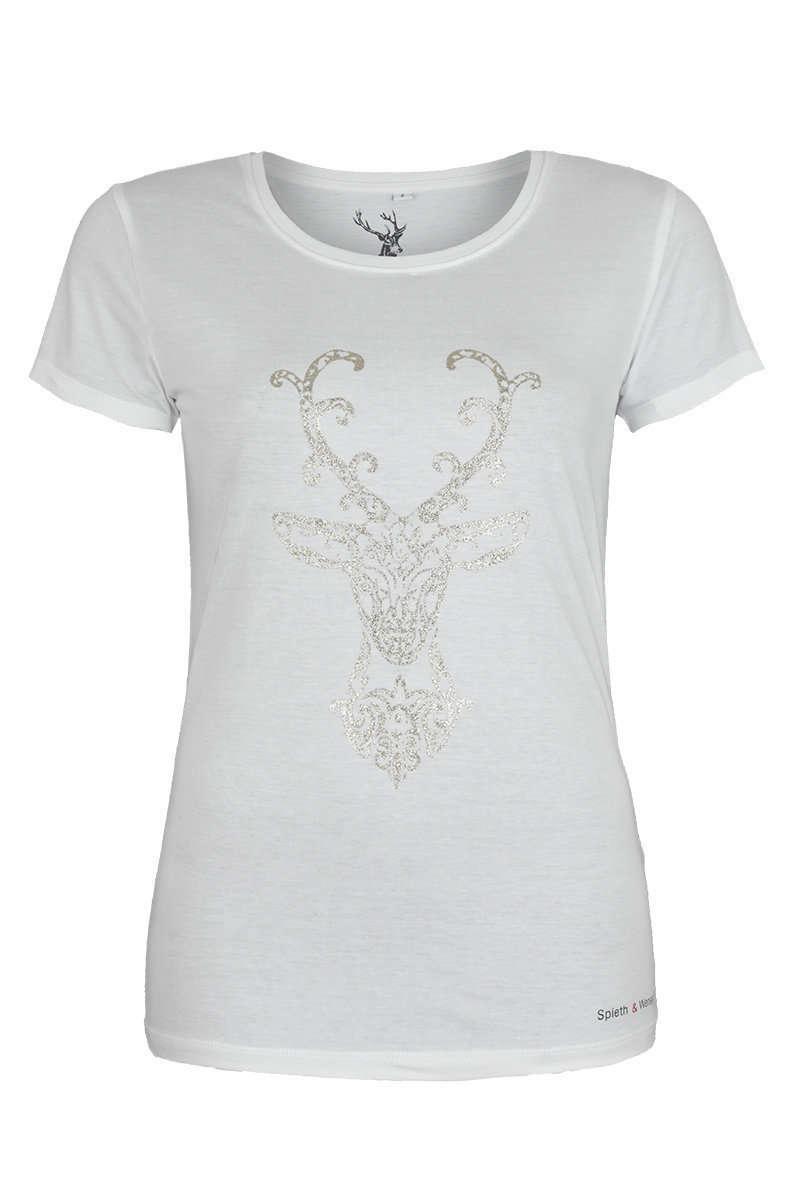 30d5744b6818d Trachten T-Shirt Hirsch weiß gold - Damen - Trachten Werner
