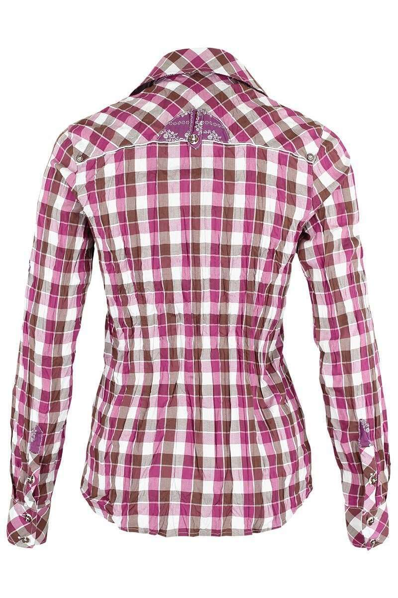 Bluse Crash-Optik kariert pink Bild 3