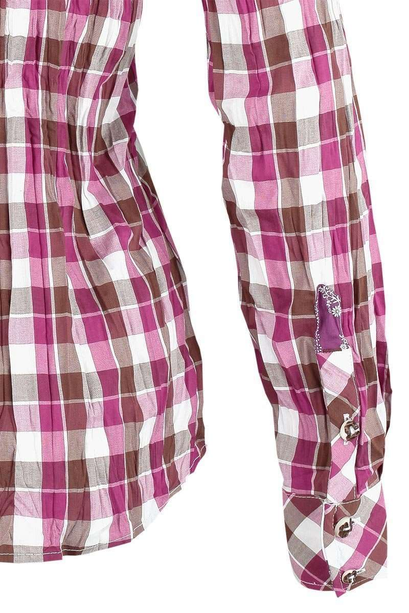 Bluse Crash-Optik kariert pink Bild 4