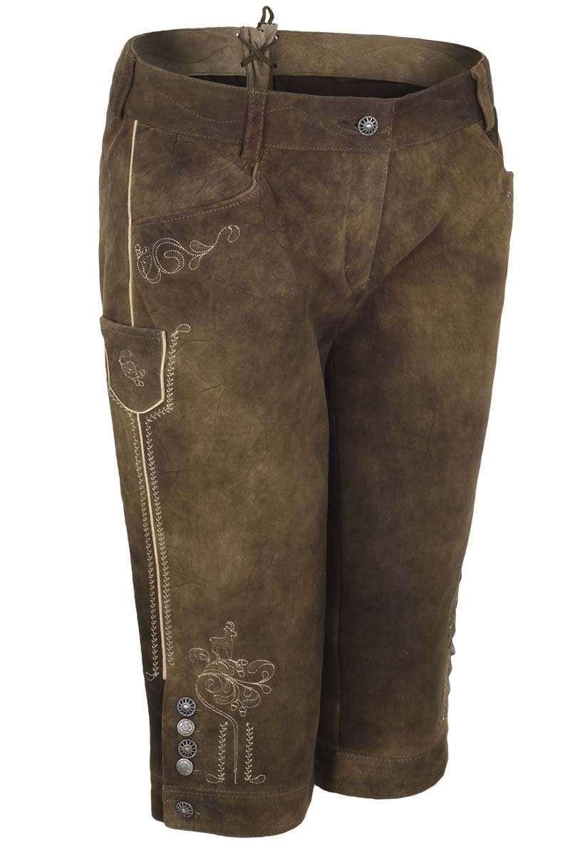 35d23cc4981d Damen Kniebundhose Ziegenvelour Leder braun - Trachten Lederhosen ...