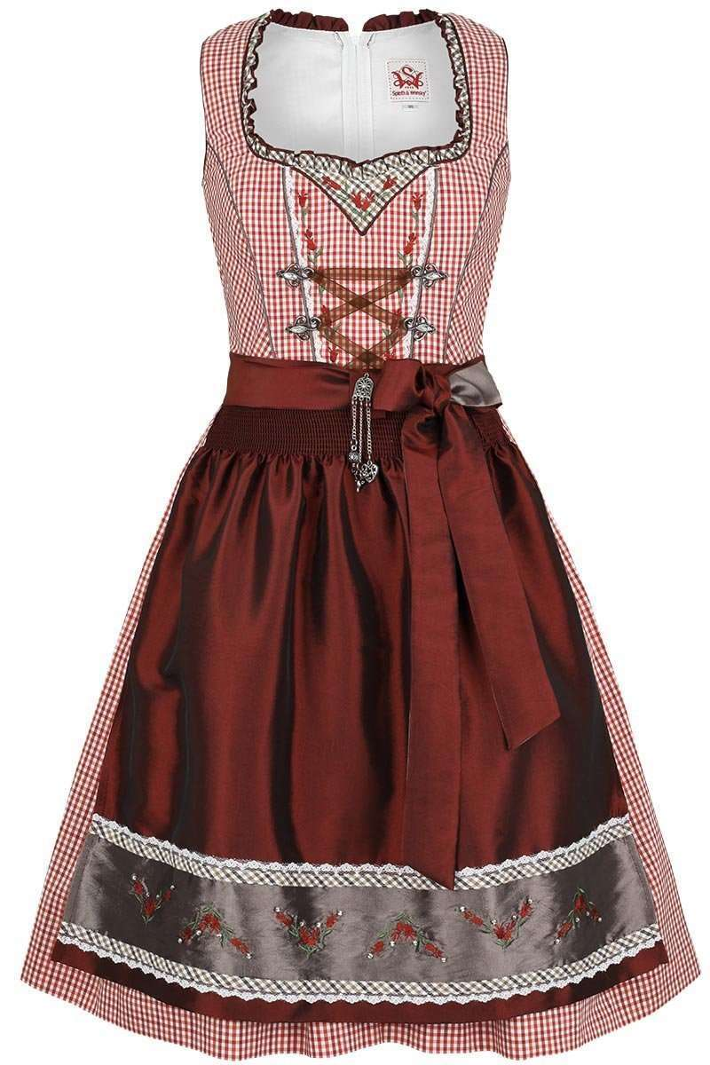 dirndl kurz rot wei kleinkariert dirndl mini damen. Black Bedroom Furniture Sets. Home Design Ideas