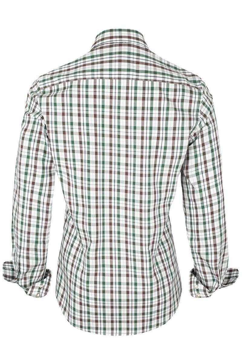 hemd slim fit kariert braun tanne trachtenhemden trachtenshirts herren trachten werner. Black Bedroom Furniture Sets. Home Design Ideas