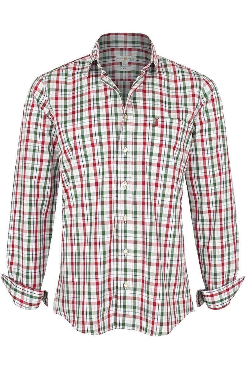 hemd slim fit kariert rot tanne trachtenhemden trachtenshirts herren trachten werner. Black Bedroom Furniture Sets. Home Design Ideas